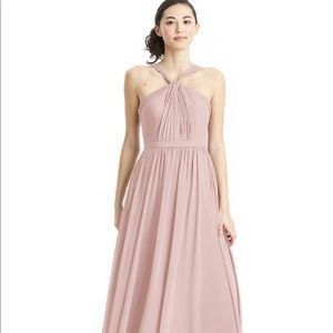 Azazie Jacey Bridesmaid dusty rose dress Size 4